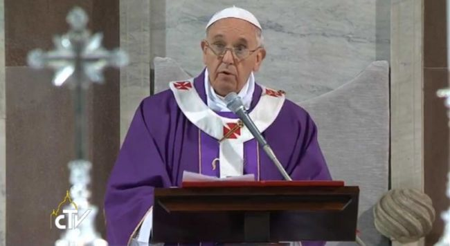 Mensagem do Papa Francisco para a Quaresma 2018